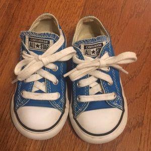 Teal Converse toddler size 7